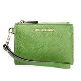 MICHAEL KORS Mercer 金屬立體LOGO荔枝紋皮革零錢手拿包(綠色)618099-5