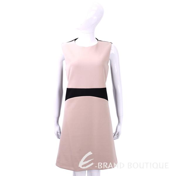 SI-JAY 粉x黑色拼接剪裁無袖洋裝 1540060-C8