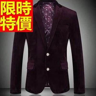 西裝外套  男韓版 西服 熱銷焦點-金絲絨學院風知性隨性65b5【巴黎精品】