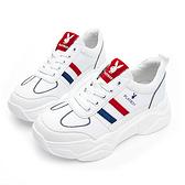 PLAYBOY Vintage III兔兔老爹鞋-白紅(Y6829)