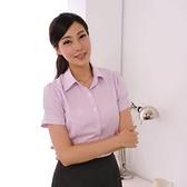 【S-42EH】森奈健SNJ粉色條紋女襯衫長袖/短袖 男女款 辦公室上班族OL房仲保險業務 吸濕排汗免燙