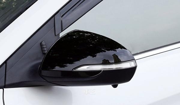 【車王汽車精品百貨】現代 Hyundai Super Elantra ABS烤漆黑 後視鏡蓋 後視鏡框 方向鏡裝飾框