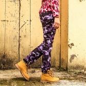 速乾褲戶外沖鋒褲女 修身迷彩長褲 加厚保暖防風防水登山軟殼沖鋒抓絨褲 歌莉婭