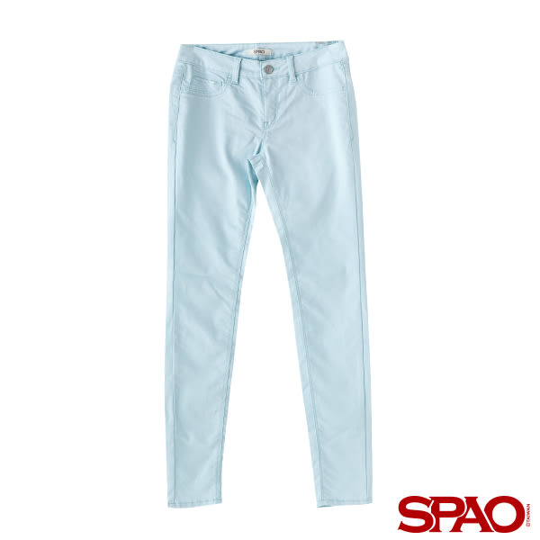 SPAO女款棉花糖修身單寧長褲-共3色