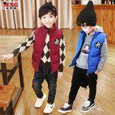 米西果兒童童裝男童馬甲加厚外穿韓版潮裝棉坎肩 町目家