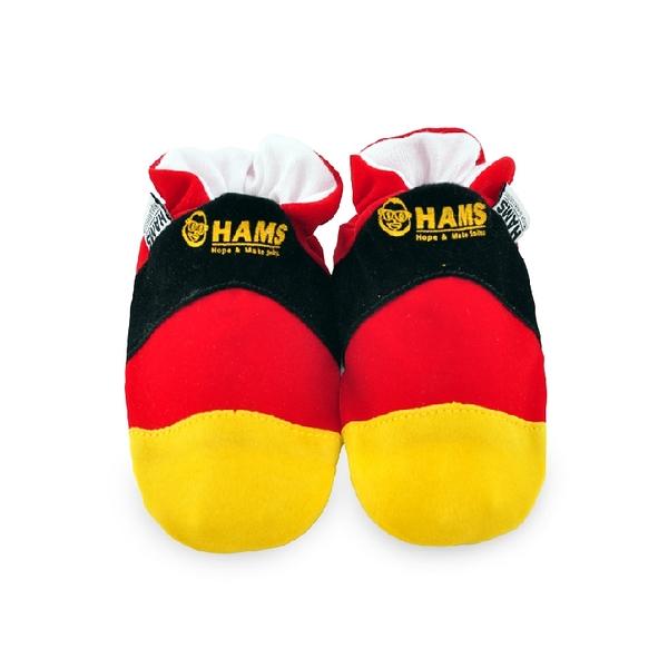 嬰兒學步鞋-HAMS純棉軟底麂皮防滑寶寶鞋-德國