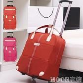 旅行包拉桿包女行李包袋短途旅遊出差包大容量輕便手提拉桿登機包YYJ 現貨快出