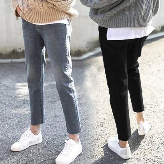 2019新款大尺碼女裝 胖妹妹mm寬鬆牛仔褲 胯寬大腿根粗的女生褲子 降價兩天