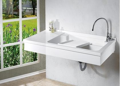 【麗室衛浴】媽媽的好幫手 優質品牌 P-221A 壁掛洗衣槽 120*55CM 可訂製加長款