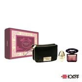Versace 凡賽斯 星夜水晶女性淡香水化妝包禮盒90ml ( 三件組 ) *10點半美妝館*