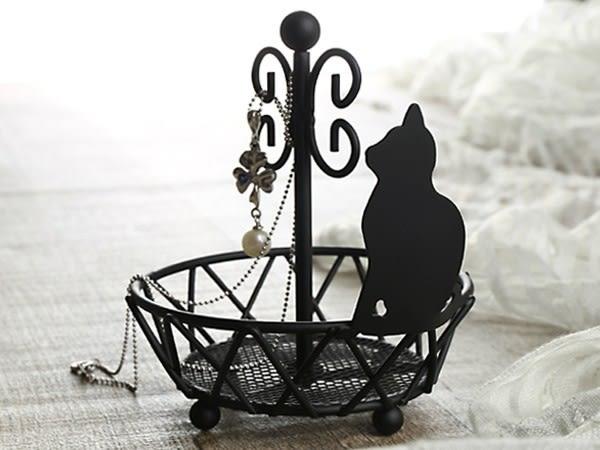 日本黑貓貓咪單層收納首飾架500267米亞