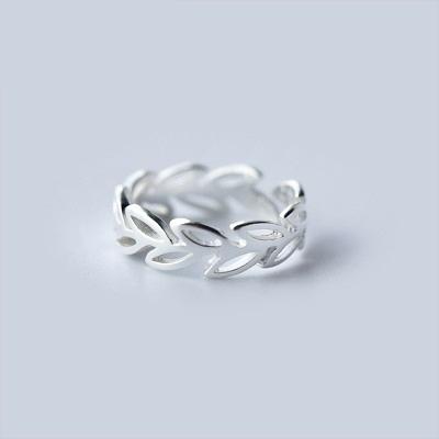 戒指 925純銀-鏤空花紋生日情人節禮物女開口戒73dt221【時尚巴黎】