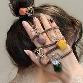 髮束 現貨 韓國女神魅力立體幾何方塊簍空鑽石水晶打結髮束髮飾 S8247 批發價 Danica 韓系飾品