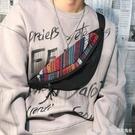 腰包男街頭嘻哈帆布胸包男士歐美單肩斜背包個性韓版小背包包 Lanna