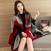 披肩斗篷外套女外搭加厚辦公室冬季百搭秋季圍巾兩用韓版秋冬披風 美眉新品