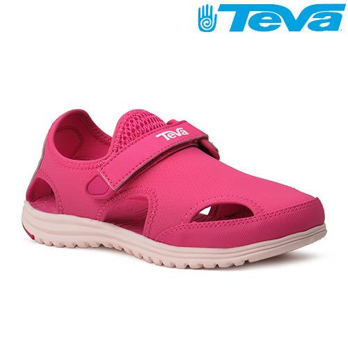 TEVA Kids 女童護趾水陸運動涼鞋Tidepool Sport - 玫紅(中童)