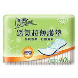 康乃馨超薄透氣護墊微香40片 【康是美】