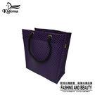手提袋-編織袋(S)-黑深紫-03C