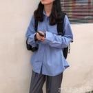 襯衫新款韓系秋裝復古百搭顯瘦口袋上衣寬鬆...