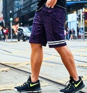 FINDSENSE H1 2018 夏季 新款 潮胖子個性豹紋 加肥 加大碼 宽
