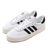 adidas 休閒鞋 Sambarose W 白 黑 奶油底 金標 鬆糕鞋 厚底增高鞋 女鞋【PUMP306】 F34239