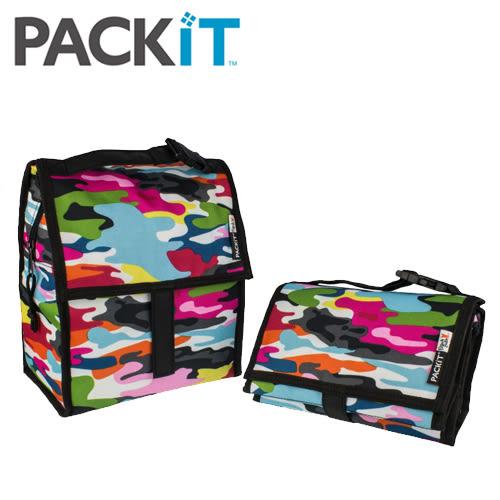 美國 packit 行動式摺疊冰袋/多功能冷藏袋 - 亮麗迷彩