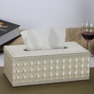 歐式皮革面紙盒木質 創意餐巾抽紙盒汽車載家用 簡約客廳茶幾可愛