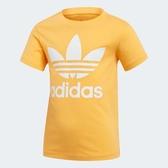 ADIDAS TREFOIL T-SHIRT 童裝 中童 短袖 休閒 慢跑 經典 基本款 棉質 黃【運動世界】ED7741