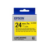 【高士資訊】EPSON 24mm LK-6YBVN 耐久型 黃底黑字 原廠 盒裝 防水 標籤帶