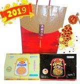 韓國 Enaak 香脆點心麵盒裝(原味+辣味) 年節禮盒 /附贈禮袋30入*2盒