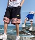 短褲男士夏季薄款潮牌休閒運動五分外穿沙灘男褲潮流寬鬆工裝褲子 3C優購