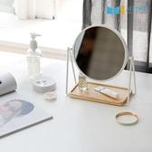 【MH家居】韓國妮可桌上化妝鏡白色