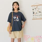 上衣韓版女t恤女短袖夏寬松學生半袖【聚可愛】
