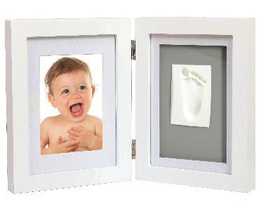 Adora珍愛回憶系列 寶寶手足模印相框(極簡桌上型)