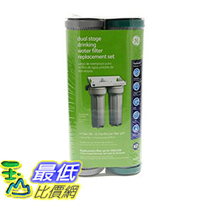 [106美國直購] GE FXSVC 濾心 濾芯 Dual Stage Drinking Water Filtration System Replacement Filter (VOC)