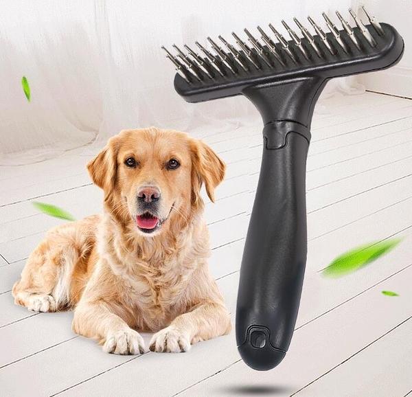 寵物梳毛器 狗狗毛刷子脫毛梳子長毛阿拉斯加邊牧金毛專用大型犬寵物刷【快速出貨八折特惠】