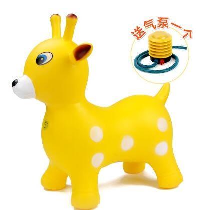 兒童充氣馬鹿加厚加大幼兒園寶寶音樂跳跳馬騎騎馬玩具馬嬰兒坐騎WY【萬聖節全館大搶購】