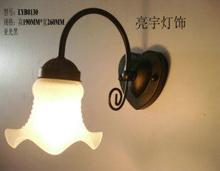 設計師美術精品館壁燈歐式田園鐵藝壁燈床頭燈鏡前燈浴室特價熱賣促銷燈具