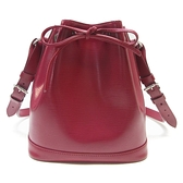 LOUIS VUITTON LV 路易威登 紫紅色EPI 水波紋中型水桶包 Noe BB M40844 【BRAND OFF】