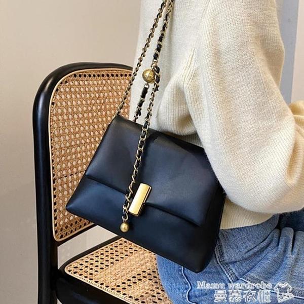 鍊條包 鍊條小方包斜背包女包洋氣側背包包2021新款潮簡約小包包女包洋氣 曼慕
