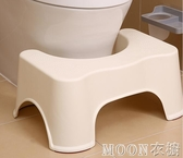 馬桶凳 日本塑膠馬桶凳子加厚成人腳踏腳踩凳蹲便凳蹲坑登兒童家用墊腳凳 moon衣櫥