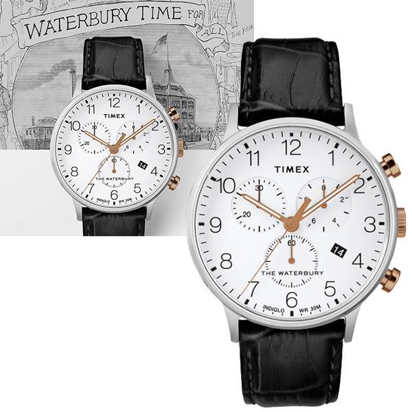 TIMEX 天美時 三眼計時 手錶(TXTW2R71700) Waterbury