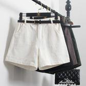 新款春裝韓版女短褲高腰顯瘦牛仔五分褲休閒寬鬆闊腿A字四分中褲『夢娜麗莎精品館』