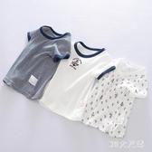 日系夏季男寶寶薄夏裝嬰兒童純棉半袖男童體t恤短袖男孩透氣上衣 FX7953 【MG大尺碼】