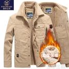 爸爸外套 棉衣男裝冬季外套羊羔絨加厚棉服大碼純棉爸爸裝中青年冬天衣服 雙12