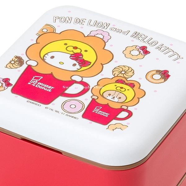 日本限定 日本聯名 mister Donut 波堤獅 x HELLO KITTY 雙層便當盒 / 餐盒 / 野餐盒