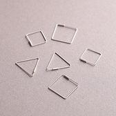 耳環 925純銀-簡約鏤空情人節生日禮物女飾品3款73gk231【時尚巴黎】