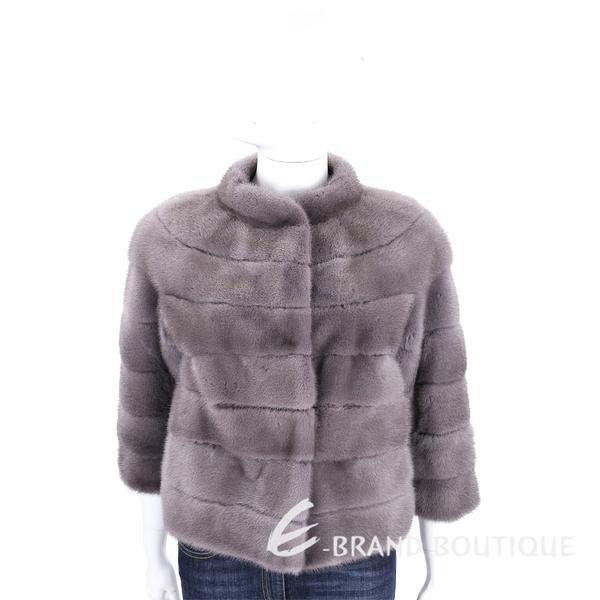 GRANDI furs 灰色立領皮草外套 1710432-11