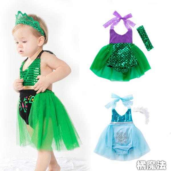 露背紗裙包屁衣 附髮帶 拍全家福 造型服 橘魔法 Baby magic 現貨 寶寶造型服 嬰兒 新生兒