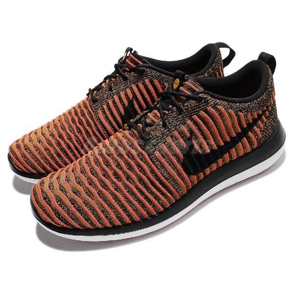 【五折特賣】Nike 休閒慢跑鞋 Roshe Two Flyknit 黑 橘 2代 白底 運動鞋 男鞋【PUMP306】 844833-009